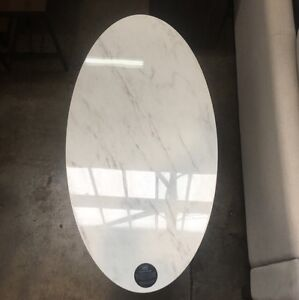 Oval marble coffee table Bass Hill Bankstown Area Preview