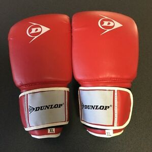 Dunlop curled bag boxing gloves XL Southport Gold Coast City Preview