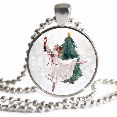 Nutcracker Ballet Gifts (NUTCRACKER BALLET NECKLACE  RECITAL GIFT Ballet Dancer Necklace Christmas)