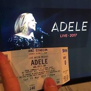 Adele Sydney Concert Sat 11 March - B Reserves x 2 Haymarket Inner Sydney Preview