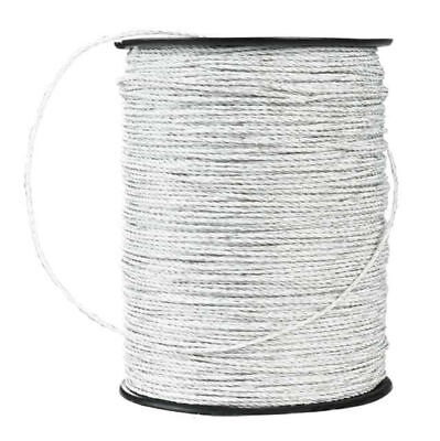 10 rolls polywire 6 strand SS 1650/' electric fence White