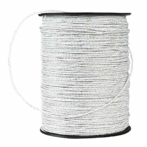 Electric Fence Trident Poly Wire White 660