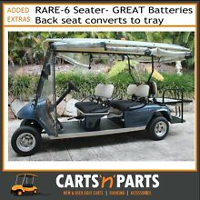 GOLF CART SOMMET 6 SEATER - 2006- GREY/BLUE WITH TRAY BACK(U-427) Oxenford Gold Coast North Preview