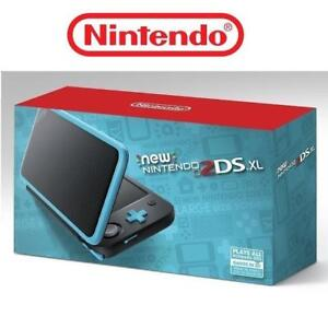 REFURB NINTENDO 2DS XL GAME CONSOLE 190246881 BLACK AND TURQUOISE HANDHELD REFURBISHED