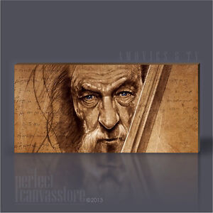 LORD-OF-THE-RINGS-THE-HOBBIT-GIANT-ICONIC-CANVAS-ART-PRINT-Art-Williams-GANDALF