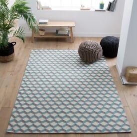 new la redoute Fatouh Wool Kilim Rug 230 x 160 cm rug brand new