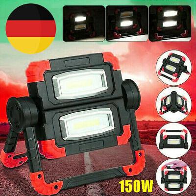 COB LED 150W AKKU Arbeitsleuchte Baustrahler Fluter Handlampe Flutlicht Lamp