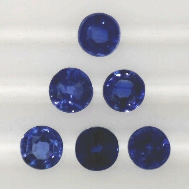 KYANITE 6 MM ROUND CUT ALL NATURAL TOP SAPPHIRE BLUE COLOR CALIBRATED F-1611
