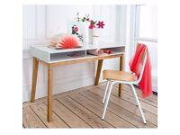 White & Oak Desk (120cm width)