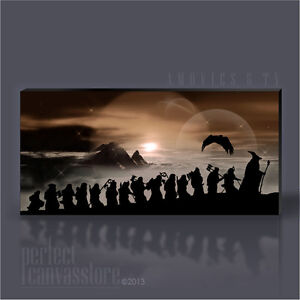 LORD OF THE RINGS - THE HOBBIT GIANT ICONIC CANVAS ART PRINT by Art Williams #08