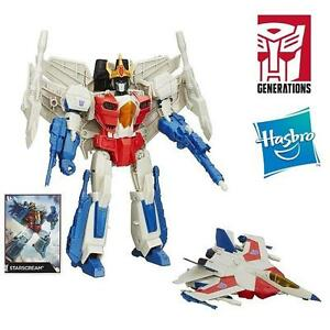 NEW TRANSFORMERS GENERATIONS TOY LEADER CLASS STARSCREAM FIGURE - KIDS - BOYS - ACTION FIGURES 107825620