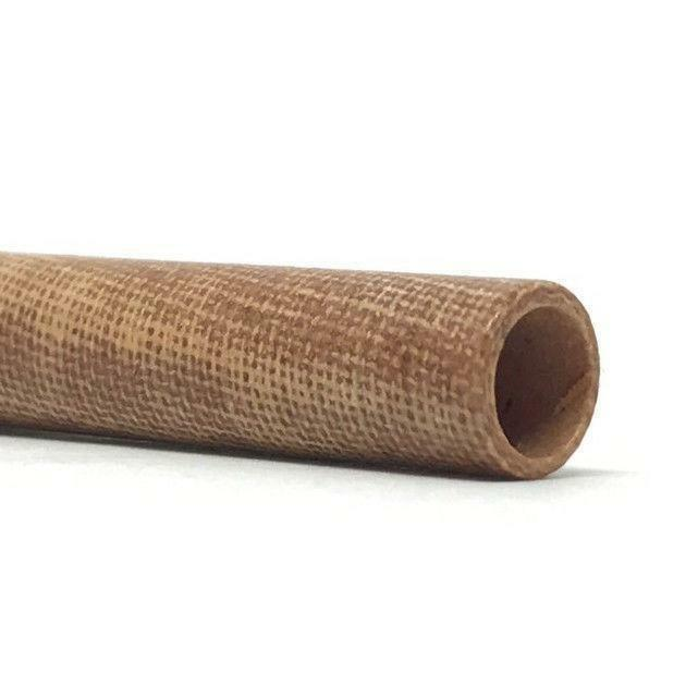 Canvas Micarta Phenolic Tube- Various Sizes- NATURAL BROWN
