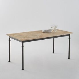 Mosaïque 6-seater inlaid table , natural