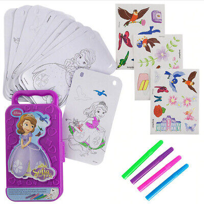 First Birthday Activities (PRINCESS SOFIA THE FIRST birthday party STICKER ACTIVITY BOX markers)