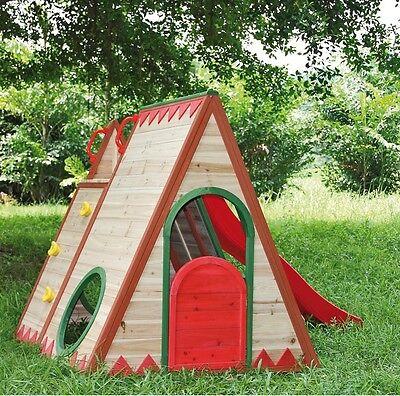 Kinderspielhaus TINI 22446 Spielhaus Holz Fichte Gartenhaus Spielhaus Kinder