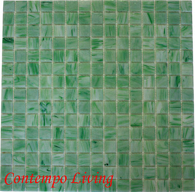 Glass Mosaic Countertop Kitchen Backsplash Tile Green