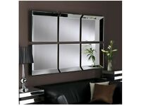Contemporary 6 panel wall mirror