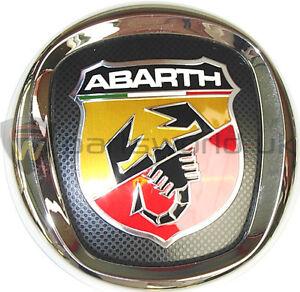 fiat grande punto abarth rear tailgate trunk logo badge emblem 735495890 ebay. Black Bedroom Furniture Sets. Home Design Ideas