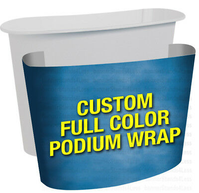 Custom Wrap For L1 Podium Counter Stand Trade Show Display Table Print