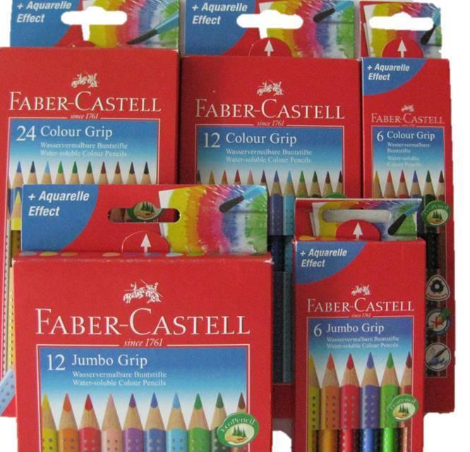 Faber Castell Jumbo Grip Colour Grip 6er 12er 24er Buntstifte Set Farbstifte 12