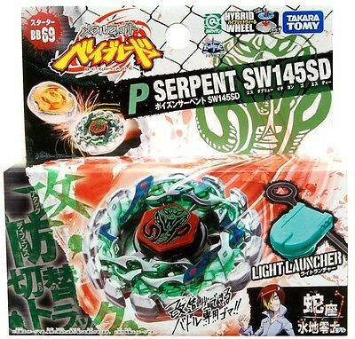 TAKARA TOMY BEYBLADE METAL FUSION BB-69 Poison Serpent SW145SD+Ripcord Launcher