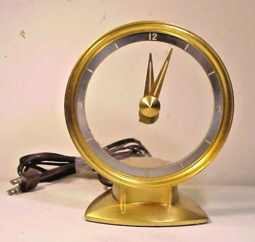 vtg Jefferson Golden Minute Electric Mystery Clock  new original equipment motor