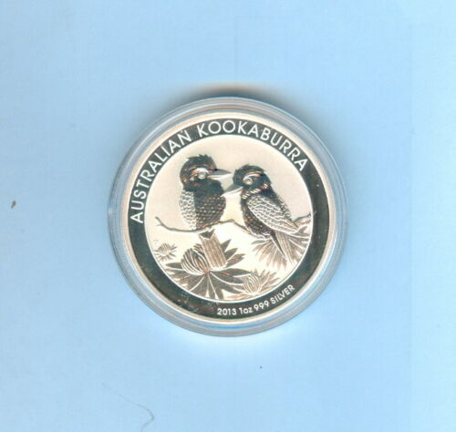 2013 AUSTRALIAN KOOKABURRA $1 DOLLAR 1oz .999 SILVER - BRILLIANT UNCIRCULATED