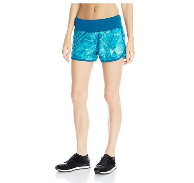 New Balance Women's Impact 3-Inch Shorts, Deep Water/Bolt, S