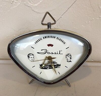 - Vintage Style Fossil Alarm Clock-American Classics 48 Cadillac-Retro Collection