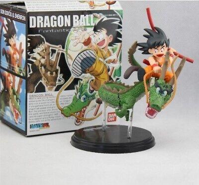 Dragon Ball Z Figure Saiyan Child Son Goku Ride On Shenron Figure Collection Toy