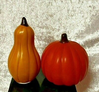 NEW Set Of 2 Ceramic Pumpkin & Squash - Fall Time Decor s