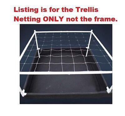 "4' x 4' ft Trellis Netting 6"" x 6"" Mesh Squares Plant Support SCROG BAY HYDRO $$"