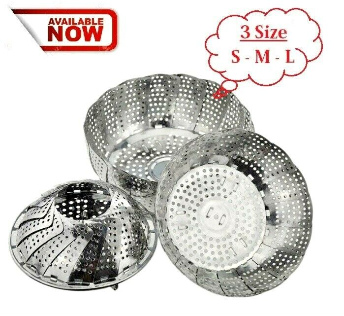 Steamer Container Cookware Stainless steel Steaming Food Bas