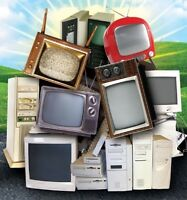 FREE PICK UP OF ALL TUBE TV'S, COMPUTERS, ETC.. 24/7 $$ FOR SOME