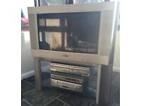 Sony Wega TV with stand (2 glass shelves)