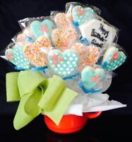 Homemade Sugar Cookie bouquets.