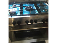 LPG gas cooker electric oven