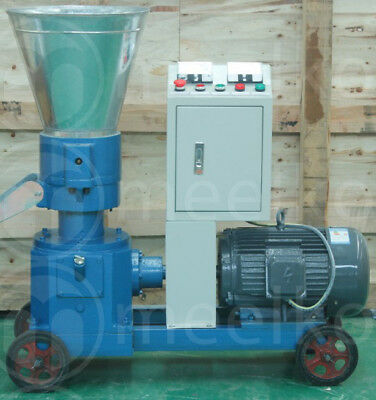 Combo Pellet Mill 7.5kw 10hp Hammer Mill 4kw Electric Engine Free Shipping