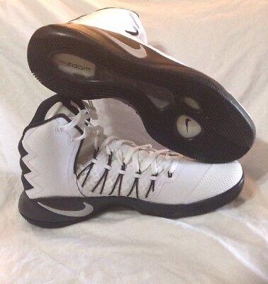 87060a30c144 New Nike Hyperdunk 16 858483-100 Black White Mens Sz 16.5