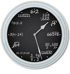 Math Teacher Chalkboard Classroom Wall Clock - School Class Office - GREAT GIFT
