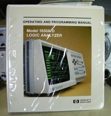 Hp 1630ad Logic Analyzer Operating Programming Manual -