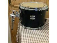 Used 12 inch yamaha natural wood finish stage custom tom tom with mount
