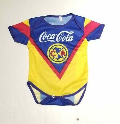 Club America Baby Soccer Jersey Retro Mameluco Pañalero Bebe Futbol Mexico
