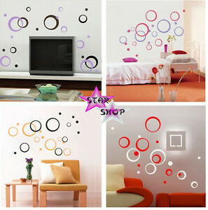 Vinilo circulos decorativo adhesivo decoracion comedor pared wall sticker art ebay - Vinilos para comedor ...
