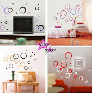 Vinilo circulos decorativo adhesivo decoracion pegatina for Pegatinas habitacion infantil