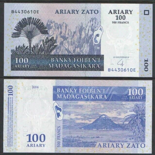 MADAGASCAR 100 Ariary, 2004, P-86b, UNC World Currency