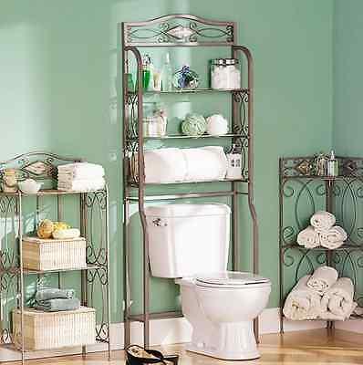 Over The Toilet Bathroom Arrange Saver Organizer Storage Towel Rack Decor Stylish