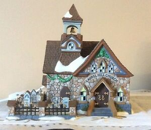 Dept 56 New England Village - Laurel Hill Church - REDUCED