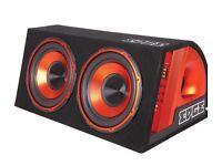 """Twin 12"""" Car Subwoofer with built in Amp"""