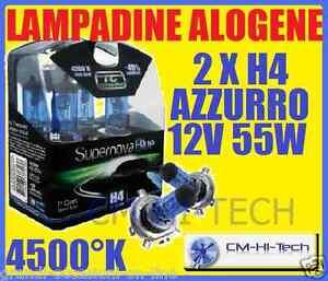 LAMPADE LAMPADINE H4 +40% PER FARI LUCI FIAT UNO TURBO IE SEICENTO QUBO FIORINO  eBay